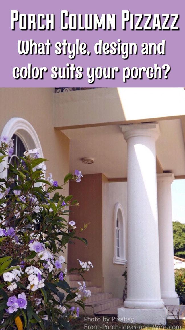 Porch column beauty