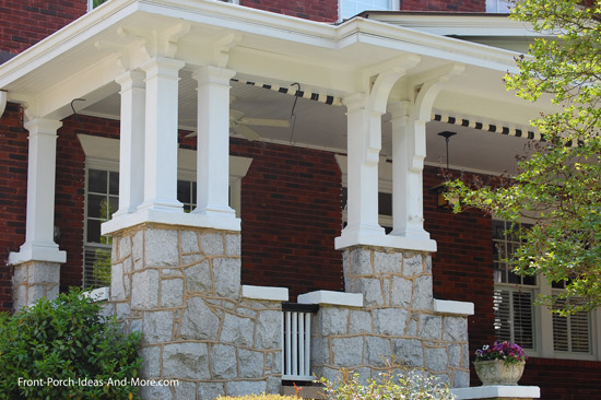 front porch columns in groupings