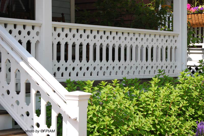 Cape May NJ porch with sawn balusters