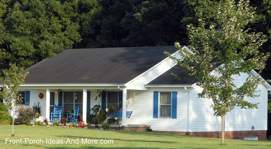 Ranch home porches add appeal and comfort for Gable roof addition