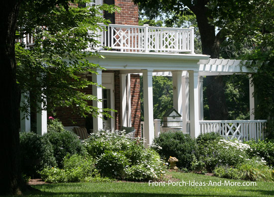 Small porch small front porch small porch plans for Flat roof porches