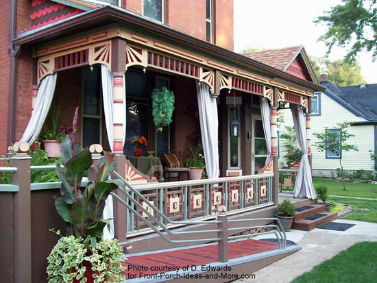historical home renovated with accessible wheelchair porch ramp