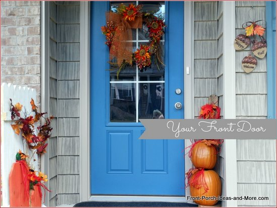 Our front door and entryway for autumn