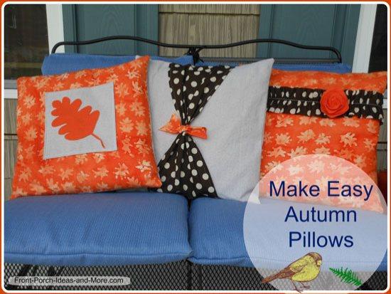 Make these easy autumn pillows