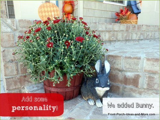 Bunny on the front porch for autumn