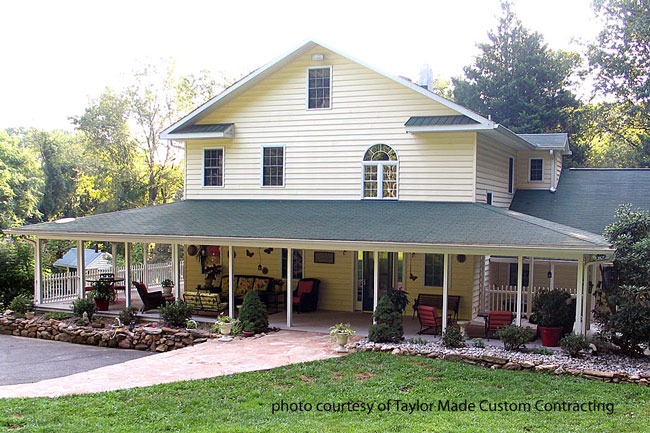 Beautiful porch by Taylor Made Custom Contracting