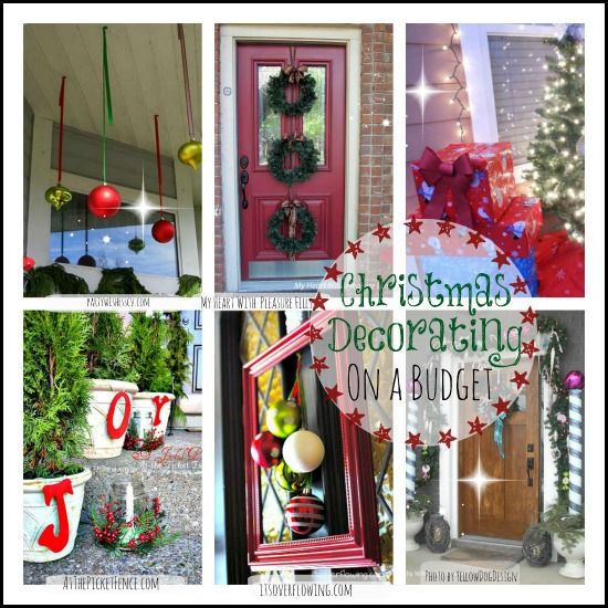 Budget Christmas Decorating: Beautiful Christmas Collage Of Inexpensive Decorating Ideas