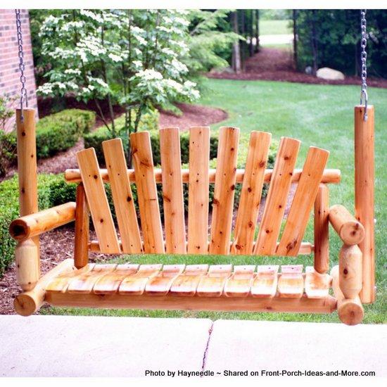 Adirondack Porch Swing Wood Porch Swing