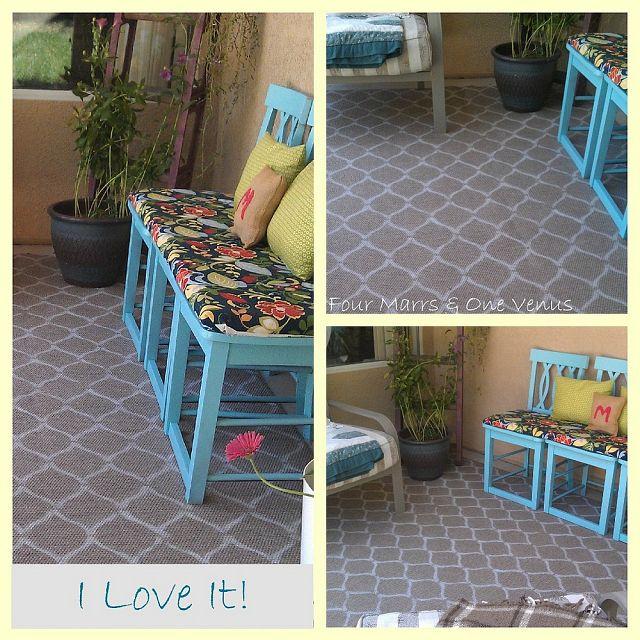 stencil a rug DIY