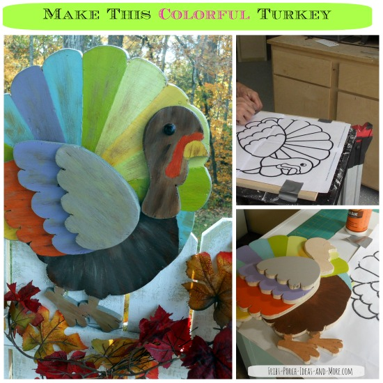 downloadable thanksgiving turkey craft for front porch from Front Porch Ideas and More