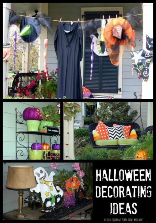 All sorts of Halloween decorating ideas for your porch