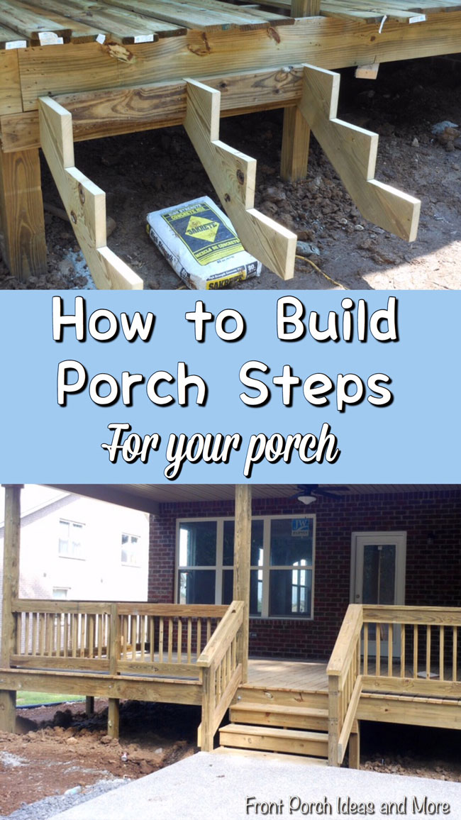 Pictures and tips for building steps to your porch