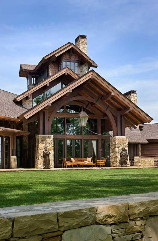 amazing roof structure on this porch  - photo courtesy of Roger Wade Studios