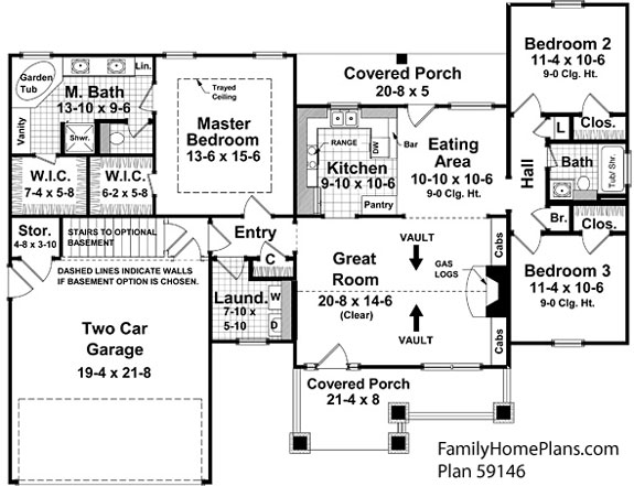 small house and porch plan 59146 by familyhomeplans.com