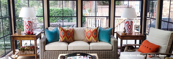 screen porch windows on furnished screen porch by diy ezebreeze