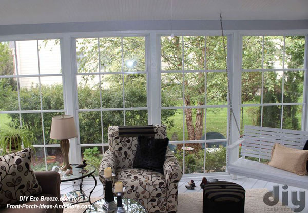 Eze-Breeze screen porch windows on 3 season room