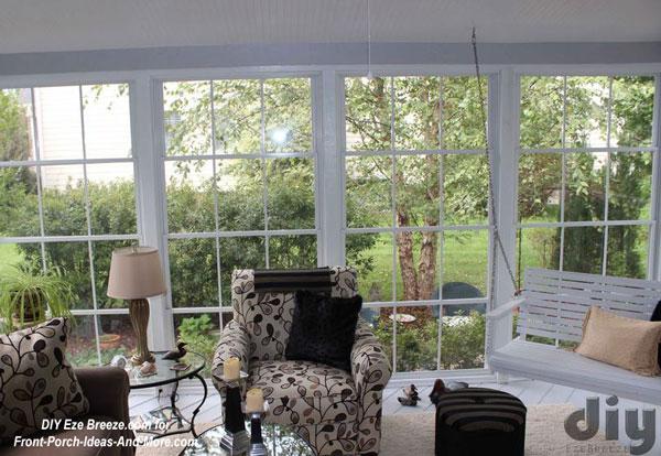 Eze-Breeze screen porch windows on 3 season room