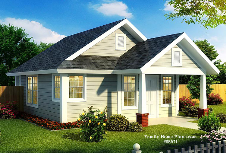 Compact Small Home With Fantastic Porch   Available At FamilyHomePlans.com  (affiliate Link). Schematic Of Small House Plan Design ...