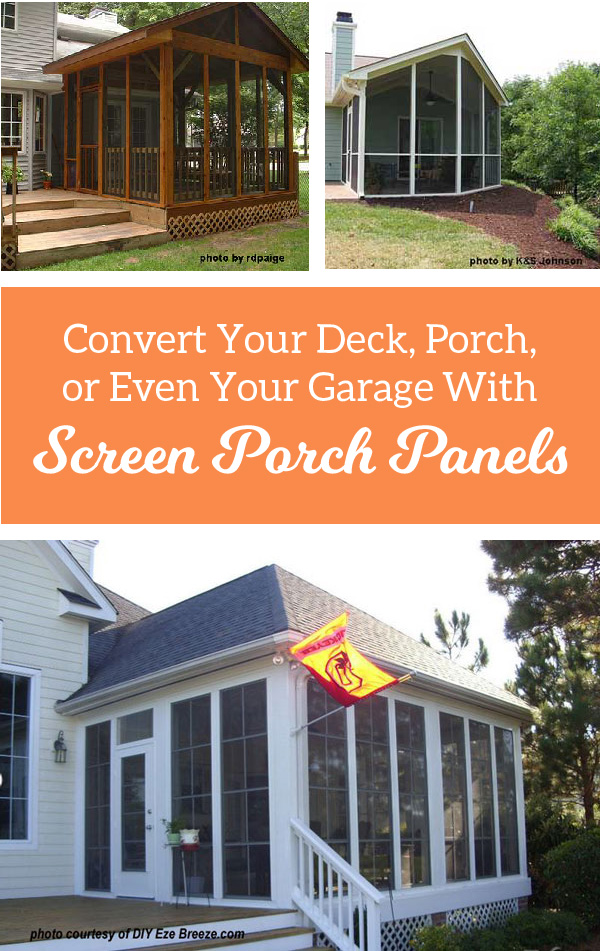 Ever think of converting your screened porch to a three season porch?