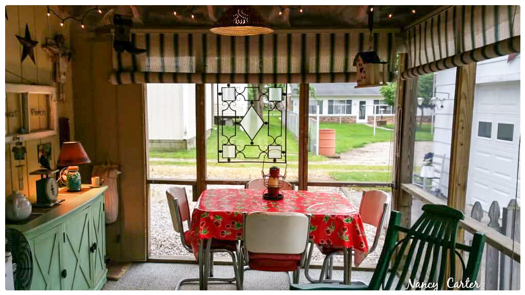 Nancy's friendly back porch is very accommodating and inviting