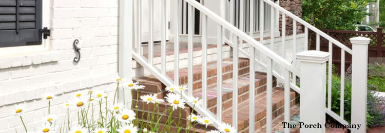 custom stair railings by The Porch Company