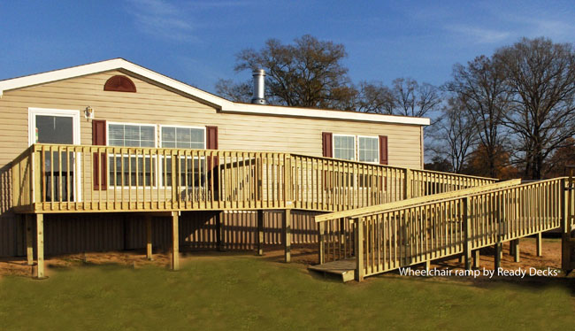 Affordable porch design ideas porch designs for mobile homes for Ada modular homes
