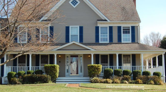 large contemporary country style front porch