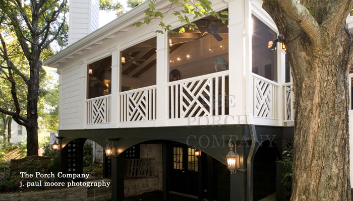 custom built screened porch by The Porch Company