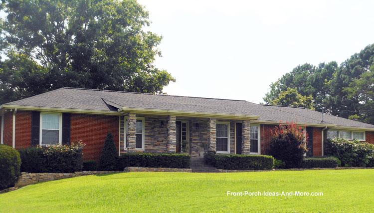Porch roof designs front porch designs flat roof porch for Front porch designs for ranch style homes