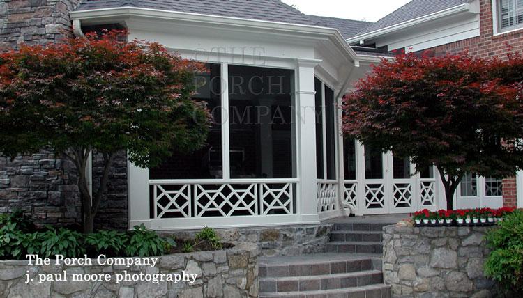 rectangular porch railing balustrade
