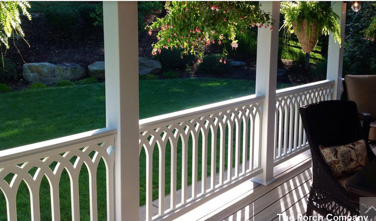 exquisitely designed vinyl railings by The Porch Company