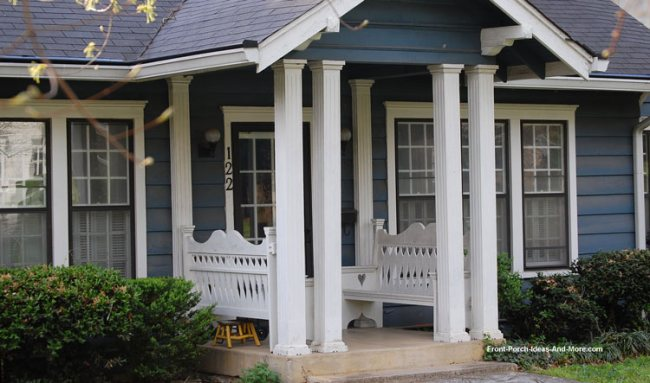 double columns on small porch