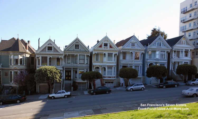 Seven Sisters Victorian Homes in S.F.