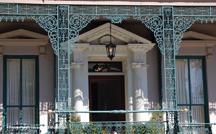 House trim using wrought iron