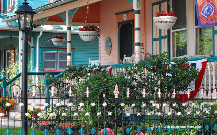 most curb appealing front porch with turned balusters
