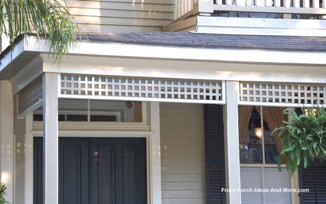 Lattice Used As Exterior House Trim