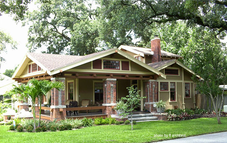 amazing front porch on arts and crafts style home