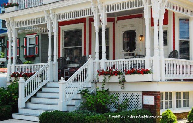 vinyl porch posts on victorian home