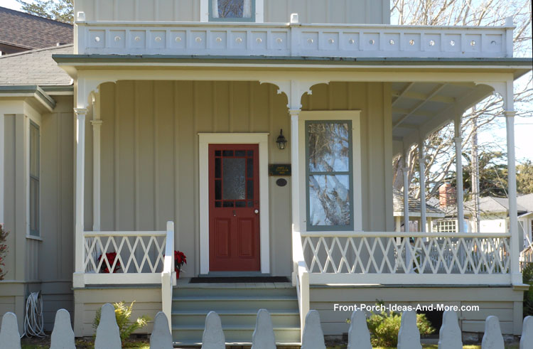 diagonal style balusters on front porch