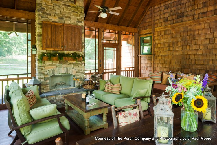 beautiful custom screened porch by The Porch Company