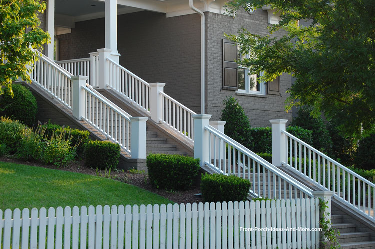 Beautiful stair hand rail in non-continuous run