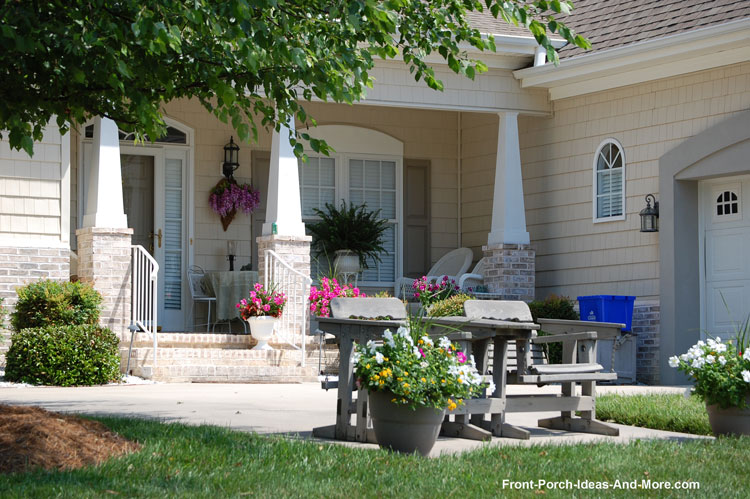 front porch with patio extension
