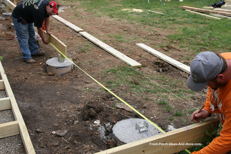 Leveling Post Anchors : Porch foundations repairs footing