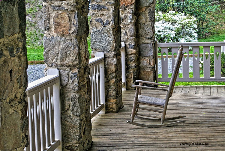 solitary rocking chair on old front porch - Porch Rocking Chairs Rocking Chair Pictures Porch Rockers