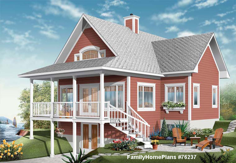 charming beach home plan with nice front porch