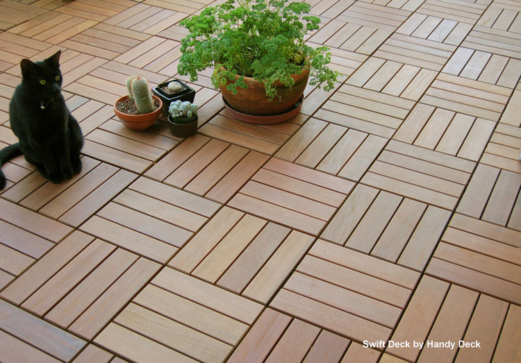 Swiftdeck Interlocking deck tiles by HandyDeck.com
