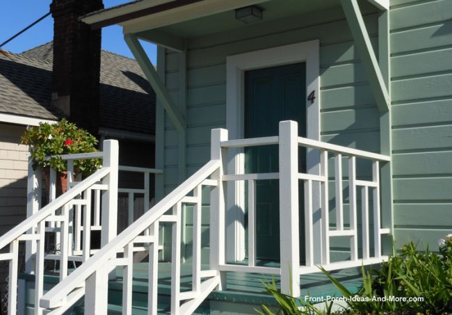 vertical balusters on front porch