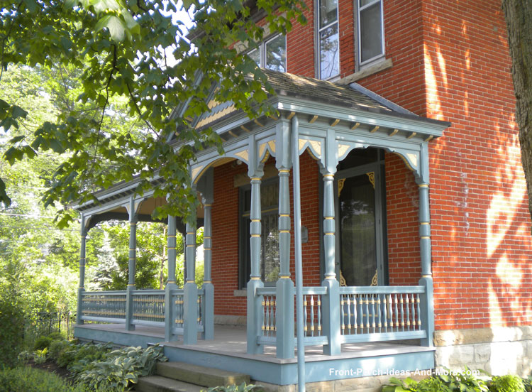 Tiffin Ohio Porch with Gingerbread Trim