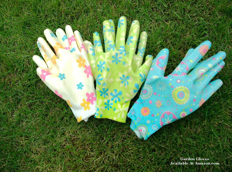 6 pair of  colorful garden gloves