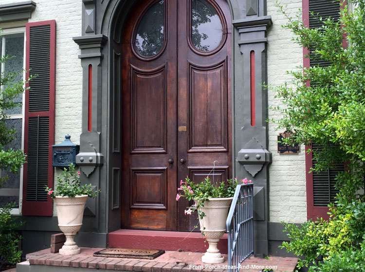 double wooden exterior front doors